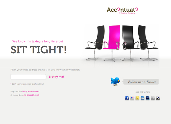 accentuate 55+ Beautiful and Creative Coming Soon Pages & WordPress Theme