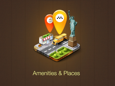 amenities   places 60 Most Incredible Examples of Icon Design