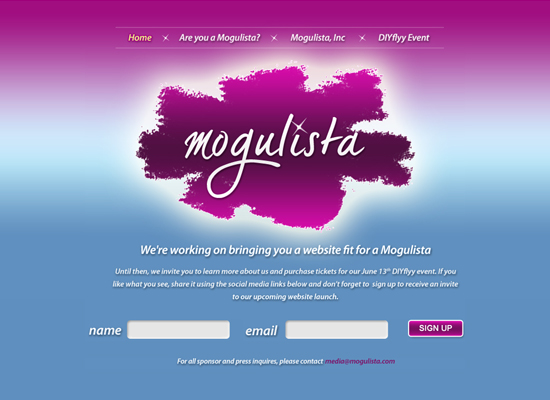 mogulista 55+ Beautiful and Creative Coming Soon Pages & WordPress Theme