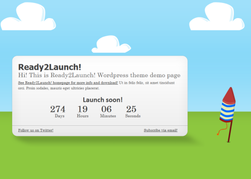 ready2launch wordpress theme1 55+ Beautiful and Creative Coming Soon Pages & WordPress Theme