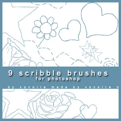 Free Scribble brushes download pack
