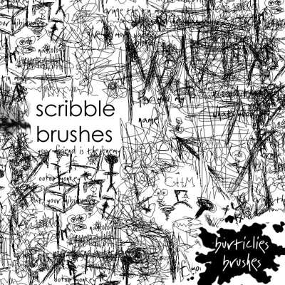 Free scribble brushes photoshop download