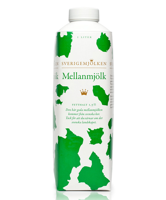 mellanmjolk1 30 Wonderful Examples of Milk Packaging Design