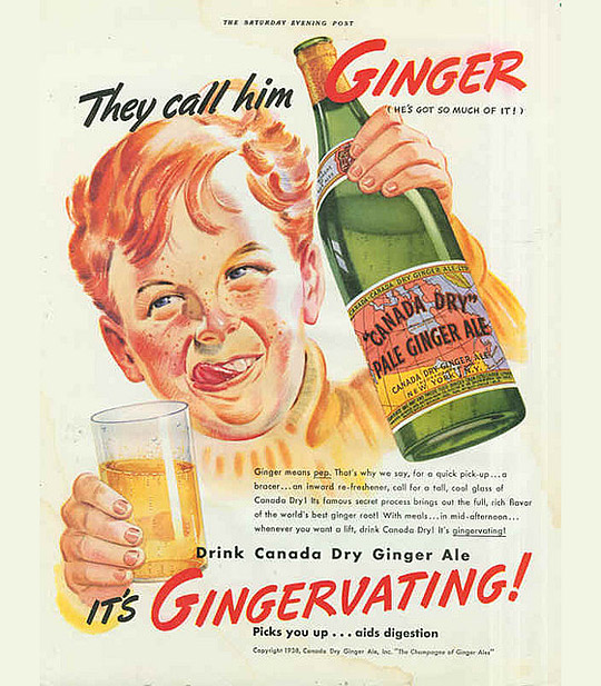Canada Dry Ginger Ale ad, 1930s