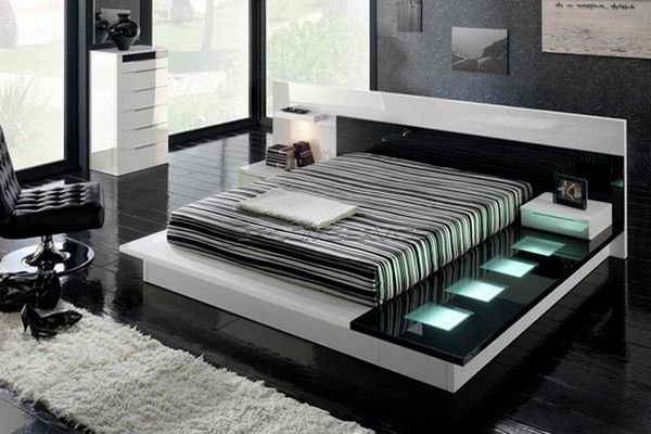 Black and White Bedroom Design  Black & White Inspiration: 35 Contemporary Decors Opening Up A World of Ideas