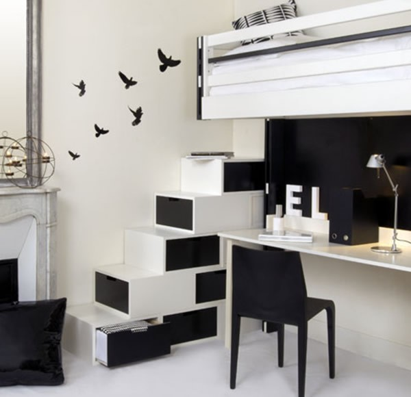 black interior decorating 6  Black & White Inspiration: 35 Contemporary Decors Opening Up A World of Ideas