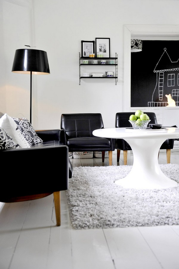 black white interior highway design 1  Black & White Inspiration: 35 Contemporary Decors Opening Up A World of Ideas