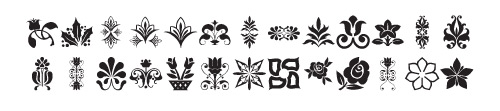lp flowers1 40 Free Highly Functional Dingbat Fonts