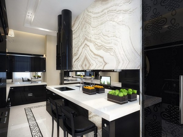 marilyn monroe dining room1 9  Black & White Inspiration: 35 Contemporary Decors Opening Up A World of Ideas