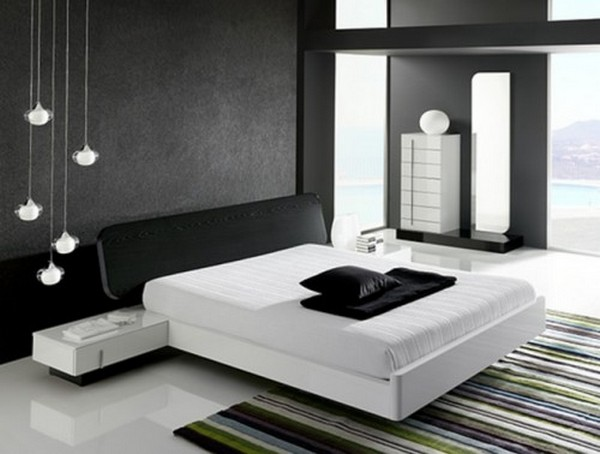 white bedroom design 3 500x378  Black & White Inspiration: 35 Contemporary Decors Opening Up A World of Ideas