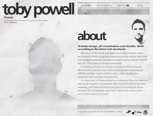 0134 02 toby powell1 40 Groovy Examples of About Me Page Designs