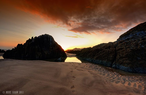 Footsteps in Amazing Landscape Photography by Mike Shaw (40 Pictures)