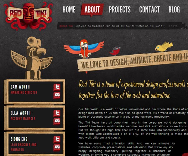 about me 121 40 Groovy Examples of About Me Page Designs