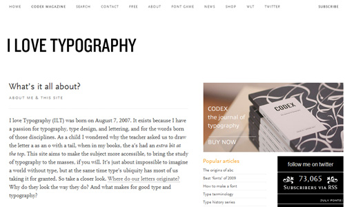 i love typography 40 Groovy Examples of About Me Page Designs