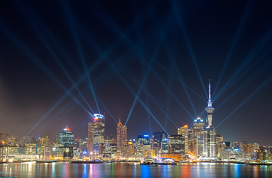Searchlights Over Auckland