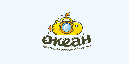ocean logo 761 51 Clever Camera and Photography Logo Designs