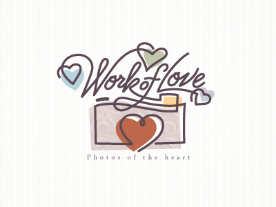 work of love1 51 Clever Camera and Photography Logo Designs