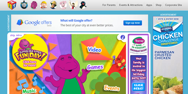 barney Designing a Child Friendly Website (Examples and Practices)
