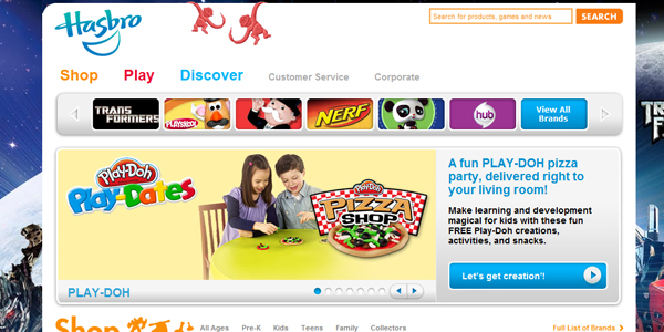 hasbro Designing a Child Friendly Website (Examples and Practices)