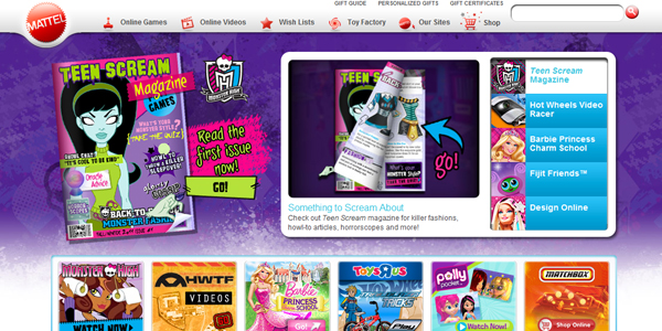 mattel Designing a Child Friendly Website (Examples and Practices)