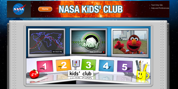 nasa kids club Designing a Child Friendly Website (Examples and Practices)