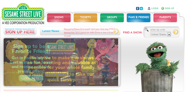 sesame street live Designing a Child Friendly Website (Examples and Practices)