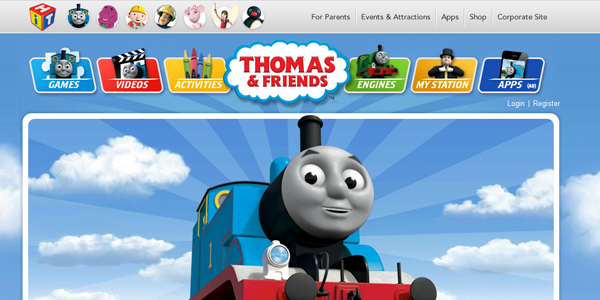 thomas and friends Designing a Child Friendly Website (Examples and Practices)