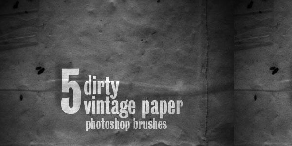 5 Dirty Vintage Paper Brushes