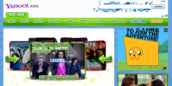 yahoo kids Designing a Child Friendly Website (Examples and Practices)