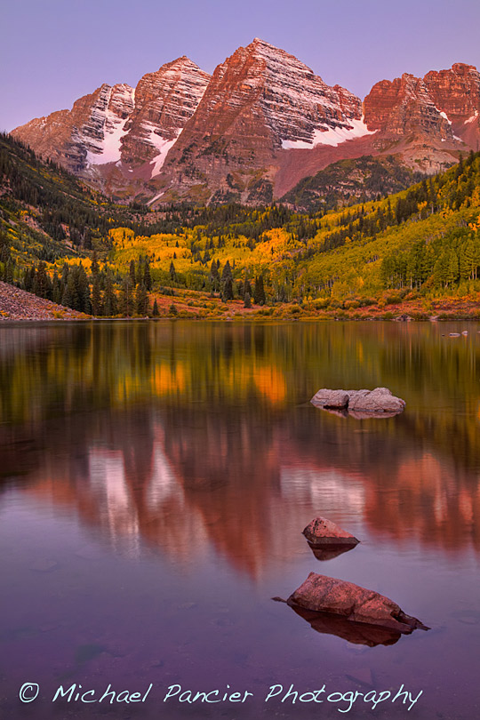 Maroon Bells - Start of Fall 2011