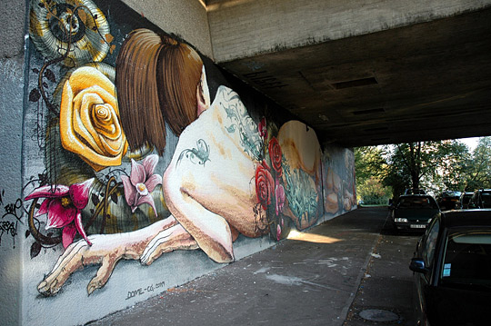 Street Art below Vogesen-Bridge
