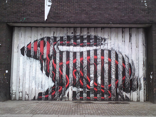 Roa - That Rabbit - Curtain Road - London Street Art - Shoreditch
