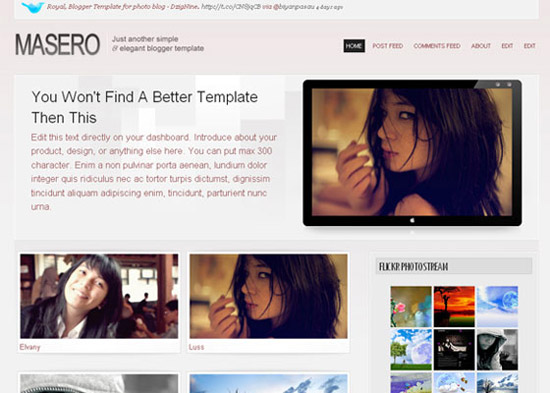 blogger template1 Stunning Collection of Blogger Templates