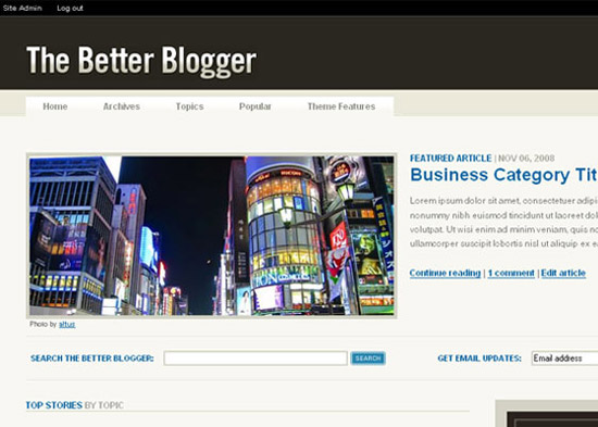 blogger template16 Stunning Collection of Blogger Templates