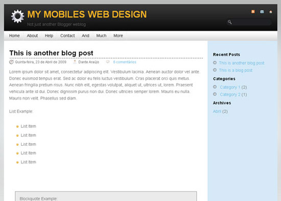blogger template31 Stunning Collection of Blogger Templates