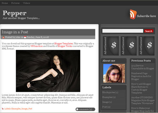blogger template4 Stunning Collection of Blogger Templates