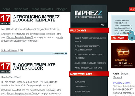 blogger template8 Stunning Collection of Blogger Templates