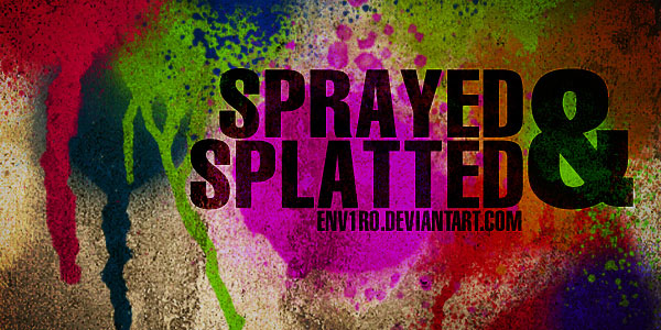 Got Sprayed Photoshop brushes
