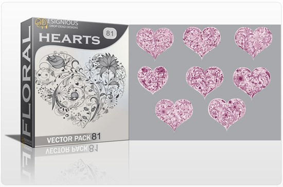 Valentines Day Design 15 floral hearts designious Over 30 Creative and Beautiful Designs Inspired by Love