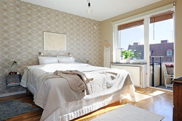 bedroom2 40 Scandinavian Wallpaper Ideas Making Decorating a Breeze