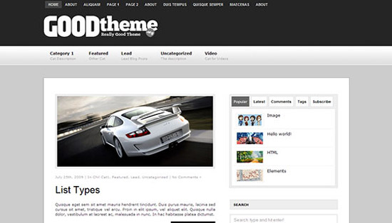 hight quality wp themes 24 Fresh and High Quality Free WordPress Themes Collection
