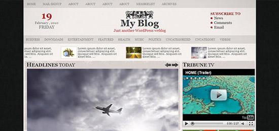 hight quality wp themes 42 Fresh and High Quality Free WordPress Themes Collection