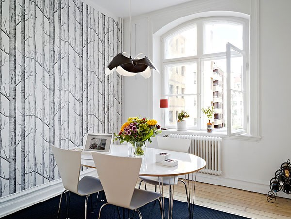 small apartment 40 Scandinavian Wallpaper Ideas Making Decorating a Breeze