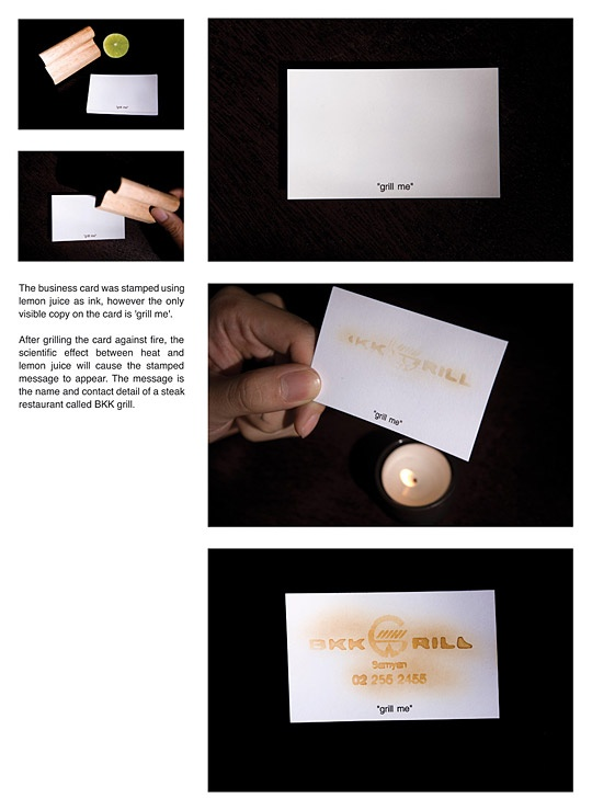 BKK Grill: Grill me business card