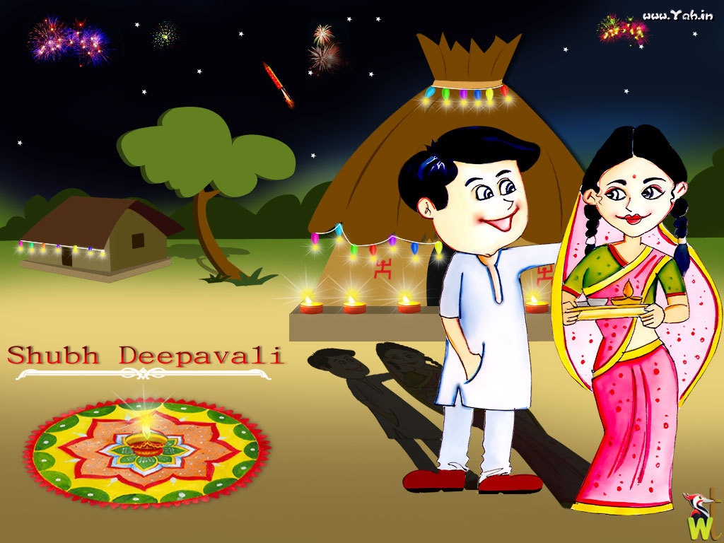 hdiwali9 45 Colorful and Cutest Diwali Wallpapers