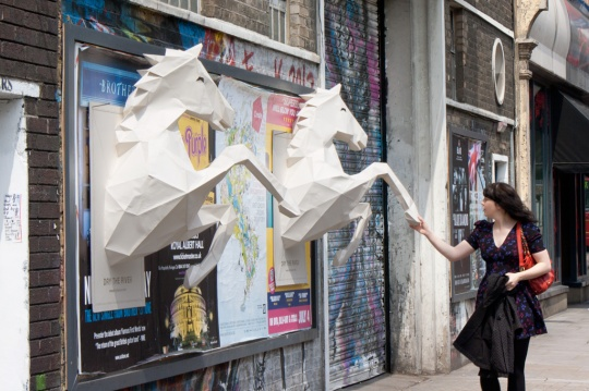 Dry the River - No Rest: 3D paper-crafted horses