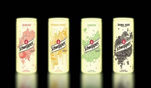 Schweppes Limited Edition Slim Cans