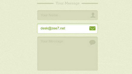 Green Contact Form