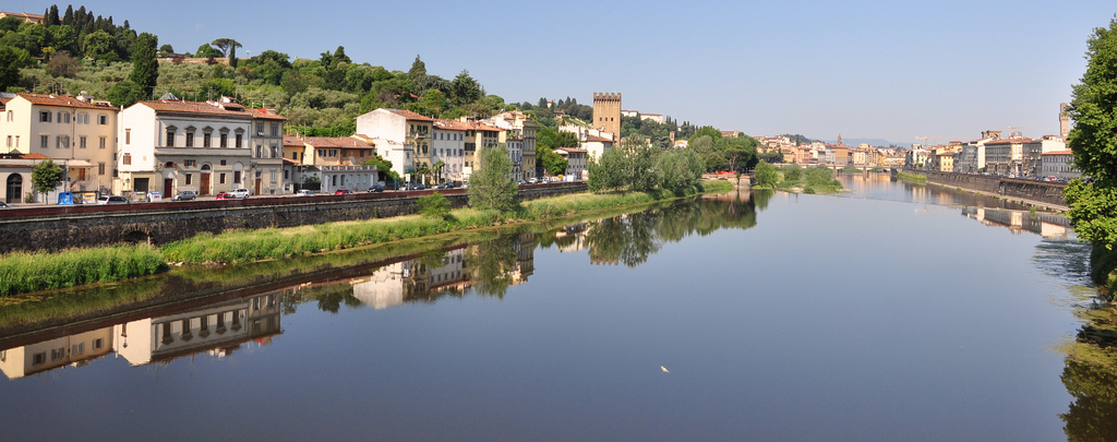 Morning Reflections on the River Arno