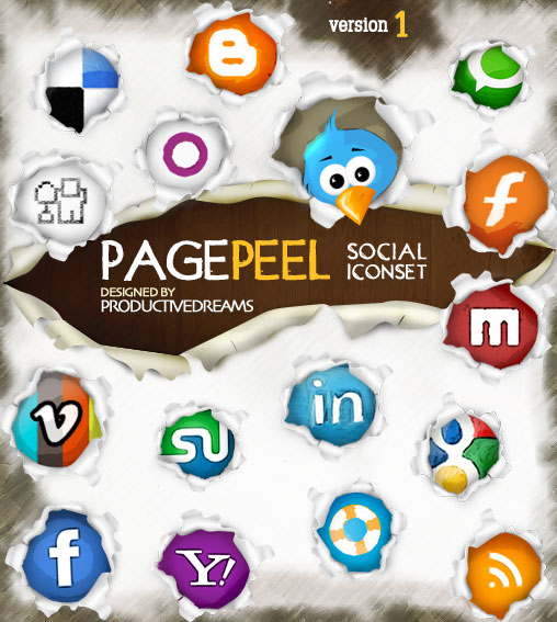 Page Peel – A Free Social Media Iconset